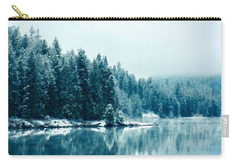 Nc Carry-all Pouch featuring the digital art Landscape Modern by Usa Map