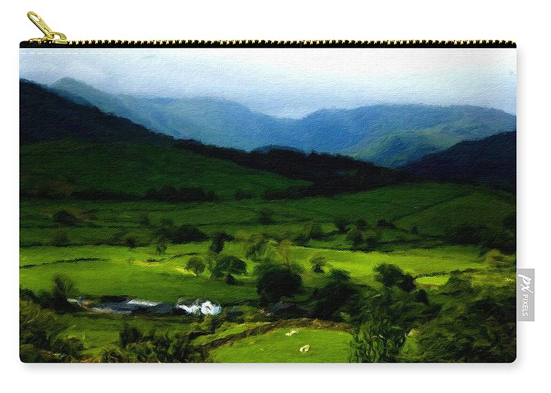 Walls Carry-all Pouch featuring the digital art P W Landscape by Usa Map