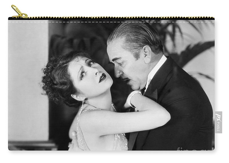-couples- Carry-all Pouch featuring the photograph Silent Film Still: Couples by Granger