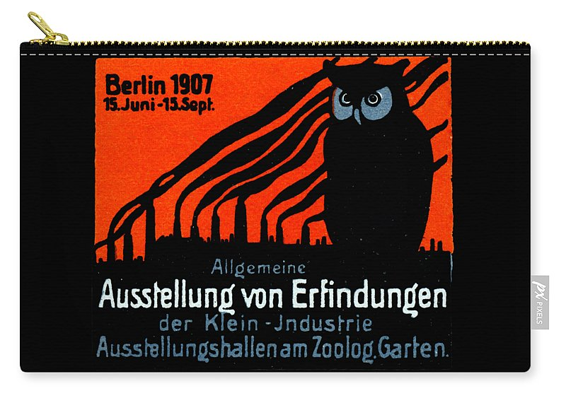 Vintage Carry-all Pouch featuring the painting 1907 Berlin Exposition Poster by Historic Image