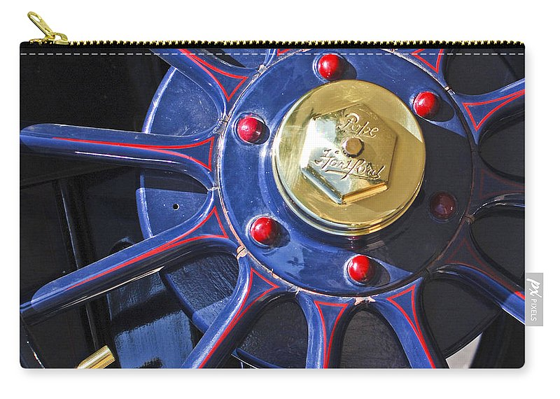 1910 Pope Hartford T Carry-all Pouch featuring the photograph 1910 Pope Hartford T Wheel by Jill Reger
