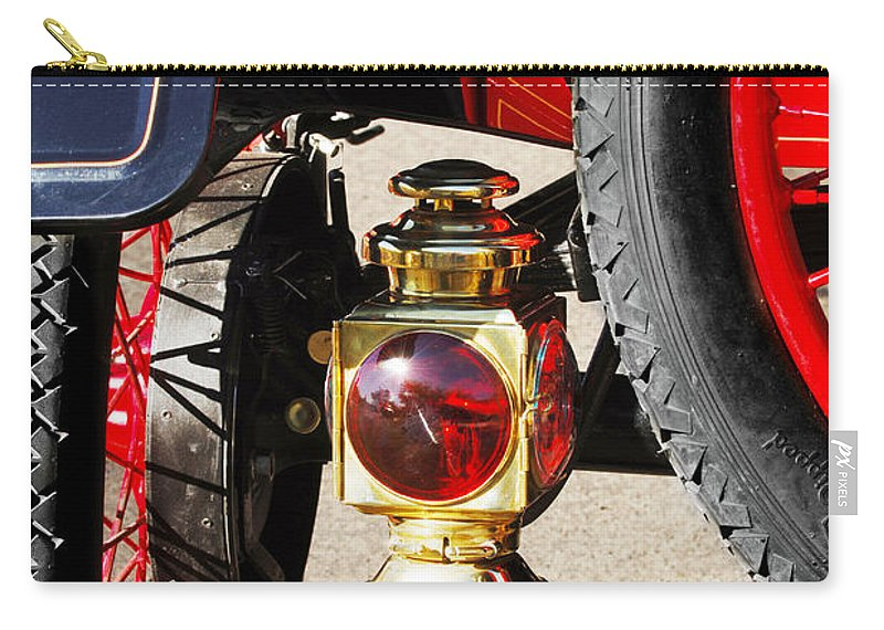 Horseless Carriage Carry-all Pouch featuring the photograph 1911 Ford Model T Torpedo Lamp by Jill Reger