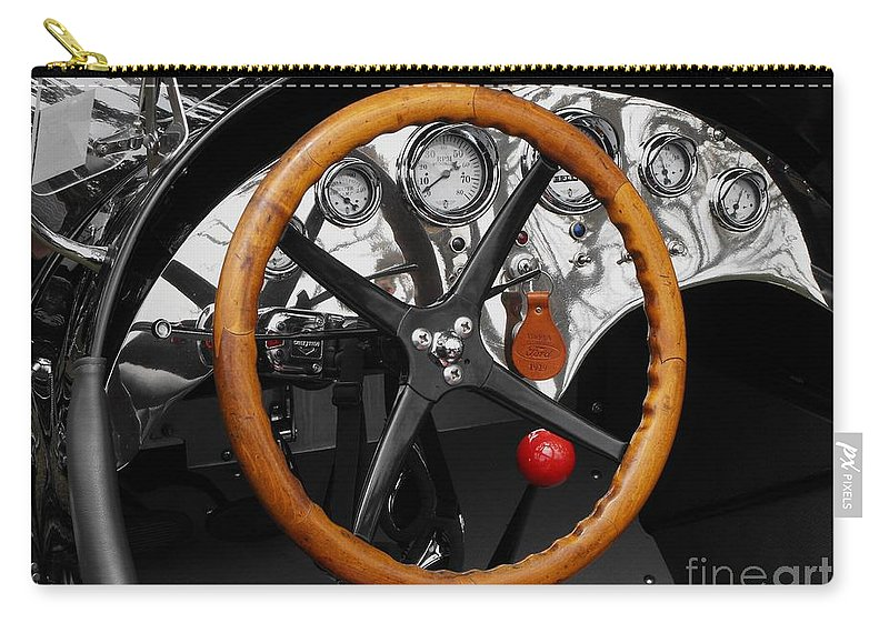 Ford Racer Carry-all Pouch featuring the photograph 1920-1930 Ford Racer Dash by Neil Zimmerman