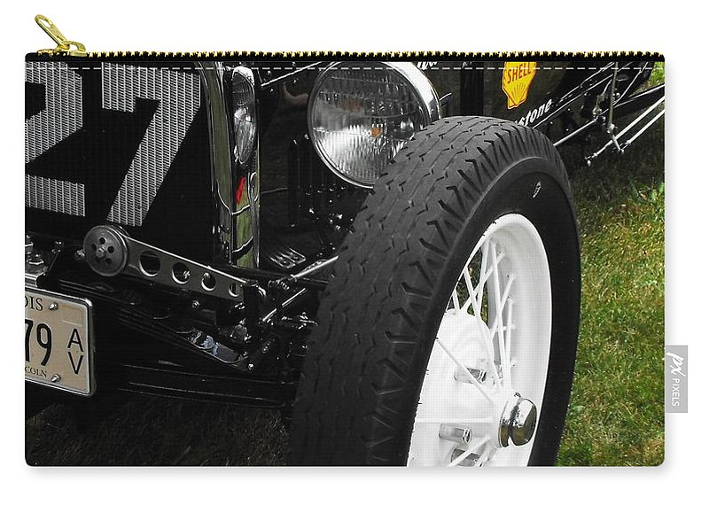 Ford Carry-all Pouch featuring the photograph 1920-1930 Ford Racer by Neil Zimmerman