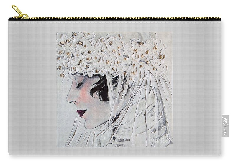 Bride Carry-all Pouch featuring the painting 1920s Bride by Barbara Chase