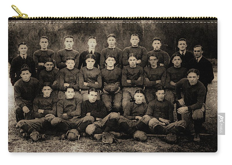 Football Carry-all Pouch featuring the photograph 1921 Royal Cc Football Champions by Bill Cannon