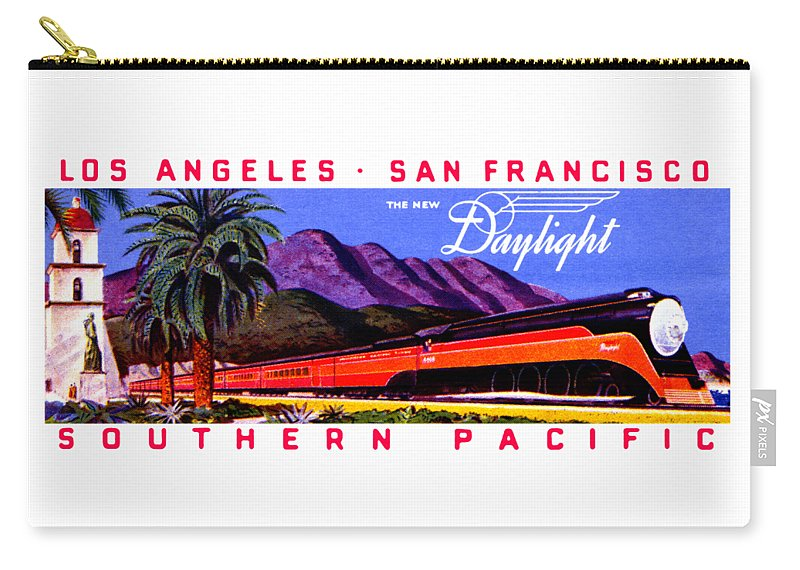 Vintage Carry-all Pouch featuring the painting 1922 Daylight Railroad Train by Historic Image