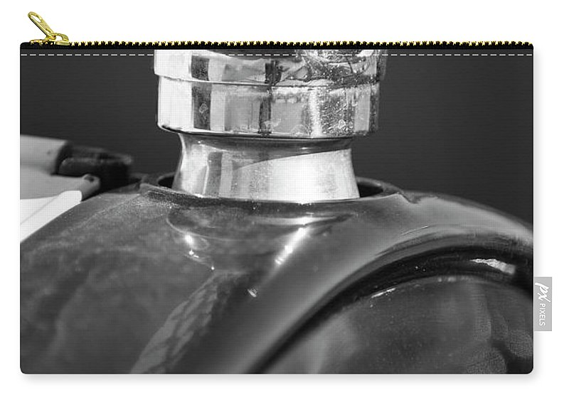 1925 Ford Model T Carry-all Pouch featuring the photograph 1925 Ford Model T Hood Ornament 2 by Jill Reger