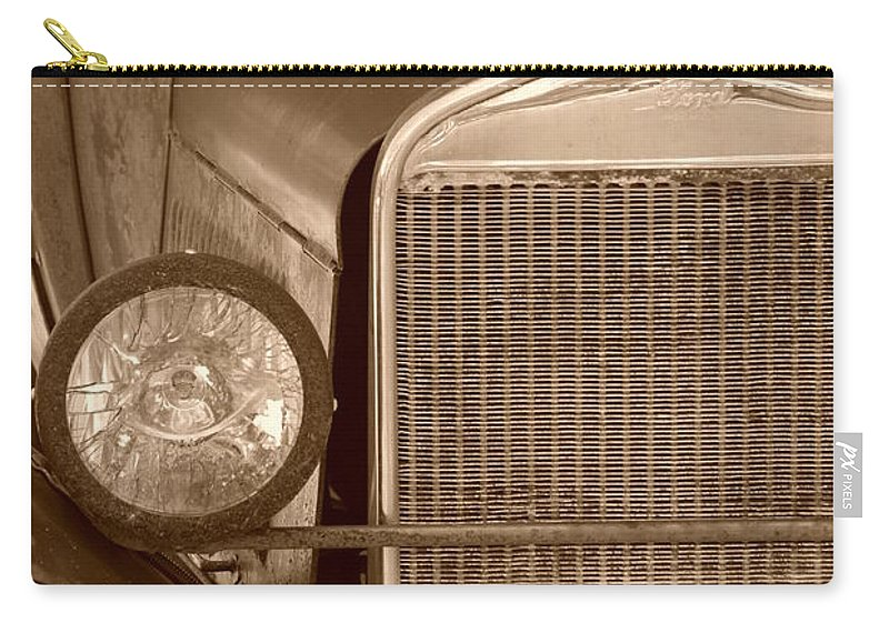 Sepia Carry-all Pouch featuring the photograph 1926 Model T by Rob Hans
