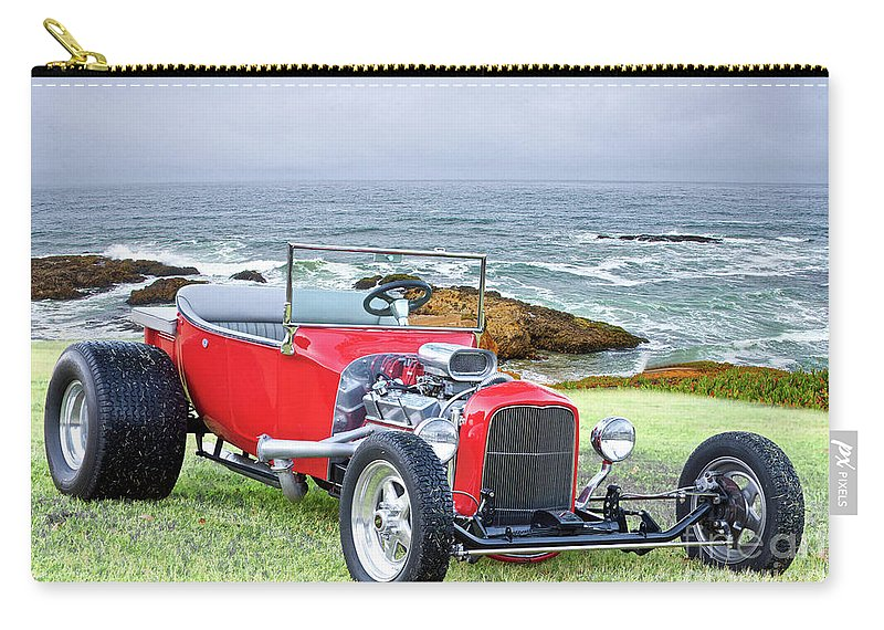 Automobile Carry-all Pouch featuring the photograph 1927 Ford T Bucket Roadster 'on The Greens' by Dave Koontz