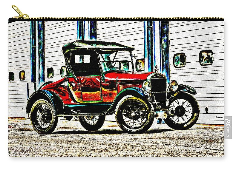 Car Carry-all Pouch featuring the digital art 1927 Model T Ford Roadster by Don Barrett