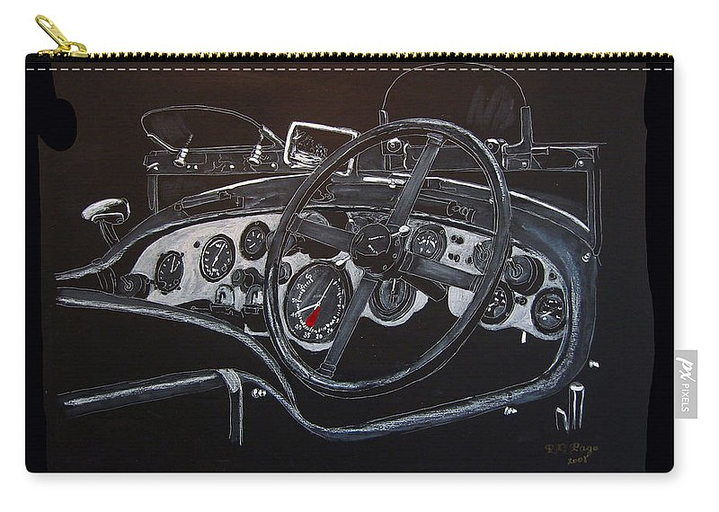 Bentley Carry-all Pouch featuring the painting 1928 Bentley Dash by Richard Le Page