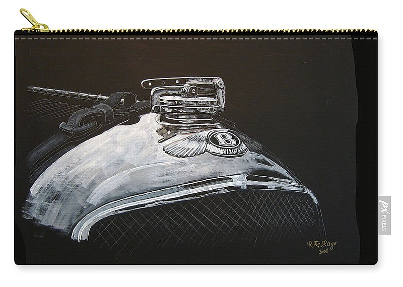Bentley Carry-all Pouch featuring the painting 1928 Bentley Rad Cap by Richard Le Page
