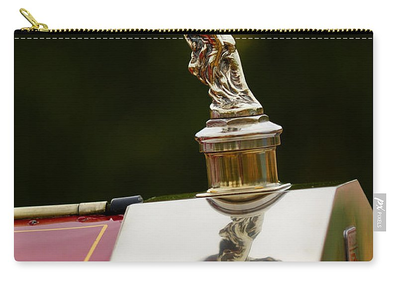 Classic Car Carry-all Pouch featuring the photograph 1928 Rolls-royce Phantom 1 Hood Ornament by Jill Reger