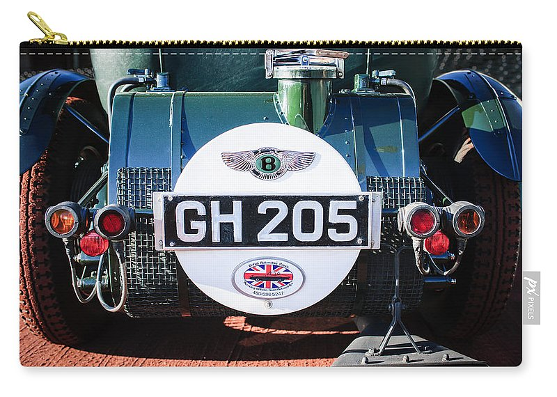1930 Bentley Speed Six Taillights Carry-all Pouch featuring the photograph 1930 Bentley Speed Six Taillights -0277c by Jill Reger