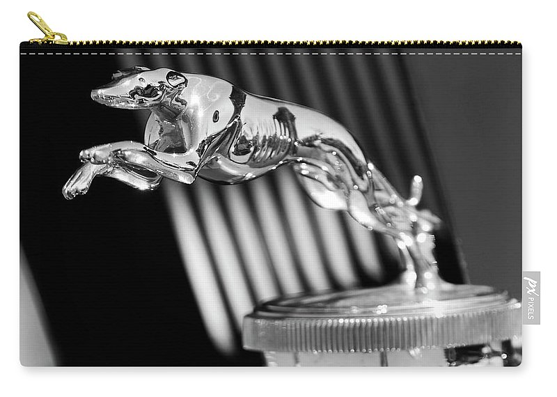 1930 Lincoln Berline Carry-all Pouch featuring the photograph 1930 Lincoln Berline Hood Ornament by Jill Reger