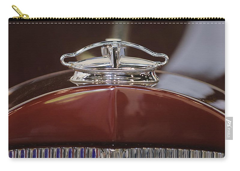 1931 Packard 840 Roadster Carry-all Pouch featuring the photograph 1931 Packard 840 Roadster Hood Ornament by Jill Reger