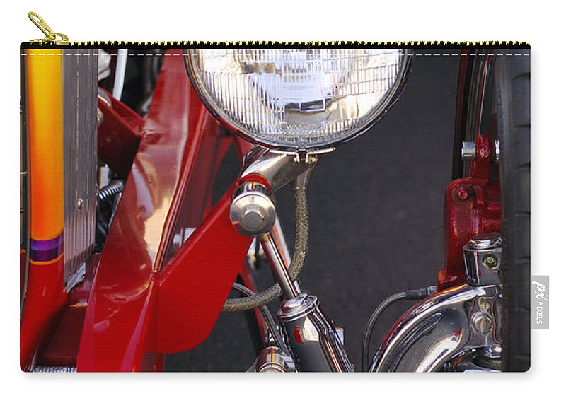 Car Carry-all Pouch featuring the photograph 1932 Ford Hi-boy Roadster Headlight by Jill Reger