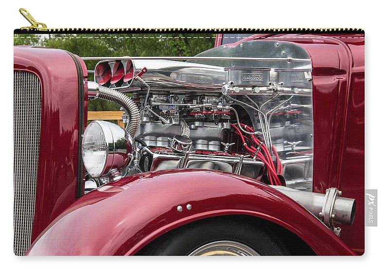 Robert Kinser Carry-all Pouch featuring the photograph 1934 Chevy Truck Motor by Robert Kinser