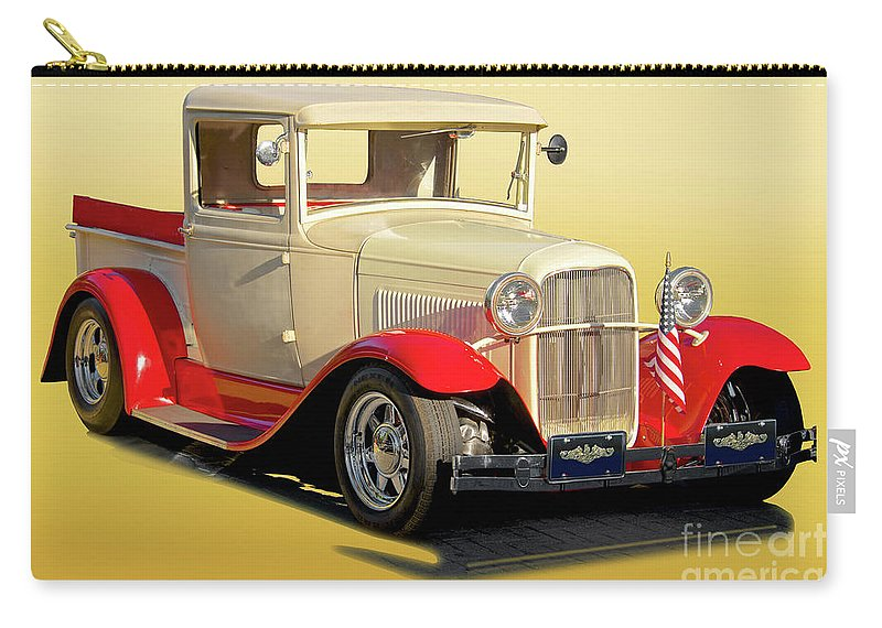 Automobile Carry-all Pouch featuring the photograph 1934 Ford '49'er' Pickup by Dave Koontz