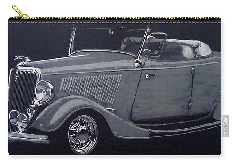 Ford Carry-all Pouch featuring the painting 1934 Ford Roadster by Richard Le Page