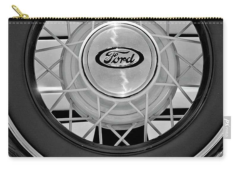 1934 Ford Roadster Carry-all Pouch featuring the photograph 1934 Ford Roadster Spare Tire 2 by Jill Reger