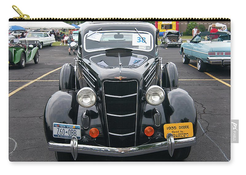 Antique Car Carry-all Pouch featuring the photograph 1935 Dodge 2019 by Guy Whiteley