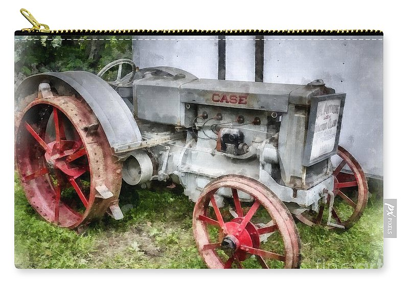 Tractor Carry-all Pouch featuring the photograph 1935 Vintage Case Tractor by Edward Fielding