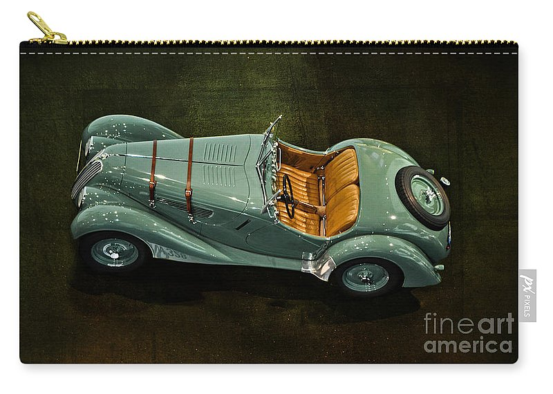 1936 Bmw 328 Roadster Carry-all Pouch featuring the photograph 1936 Bmw 328 Roadster by Mary Machare