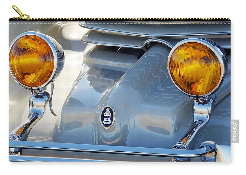 Car Carry-all Pouch featuring the photograph 1936 Cord Phaeton Headlights by Jill Reger
