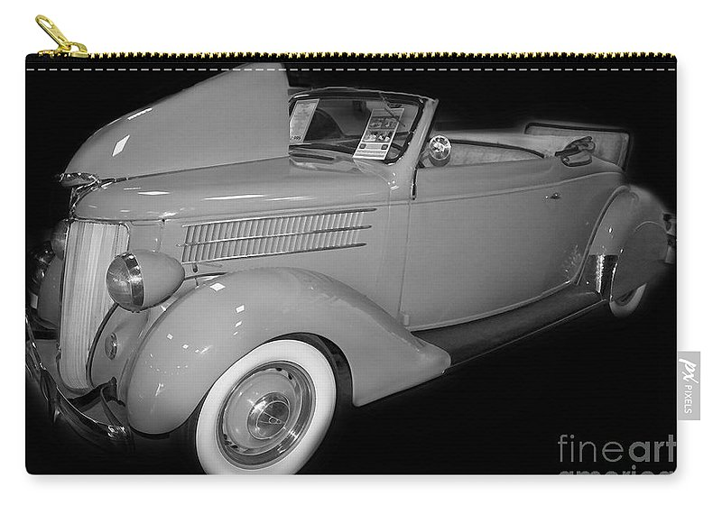 Ford Carry-all Pouch featuring the digital art 1936 Ford Rumble Seat Cabriolet by Tim Mulina