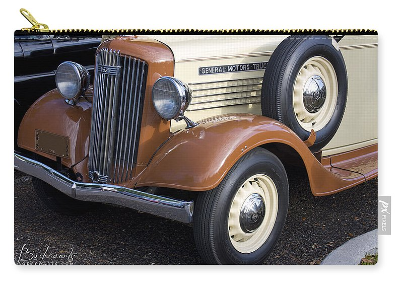 Grill Carry-all Pouch featuring the photograph 1936 Gmc Pickup Truck 1 by Robin Lewis