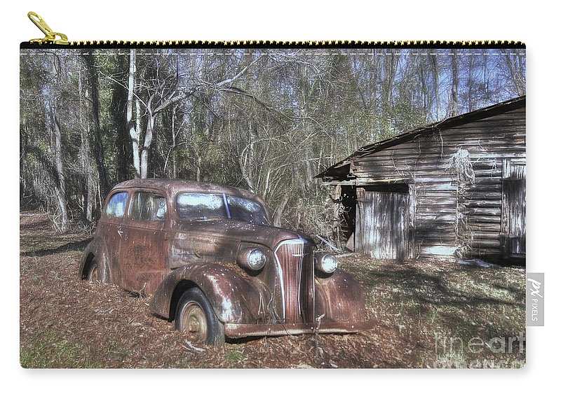 1937 Chevrolet Master Deluxe Carry-all Pouch featuring the photograph 1937 Revisited by Benanne Stiens