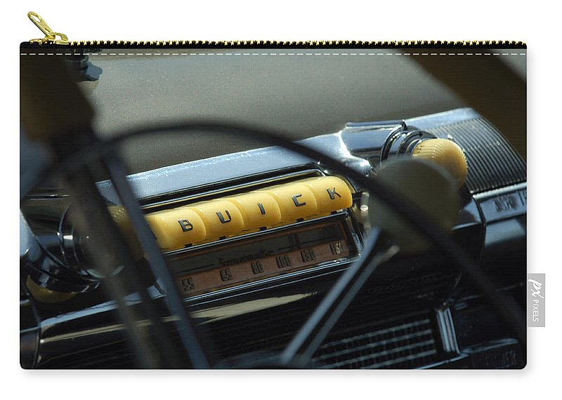 Car Carry-all Pouch featuring the photograph 1947 Buick Super Radio by Jill Reger