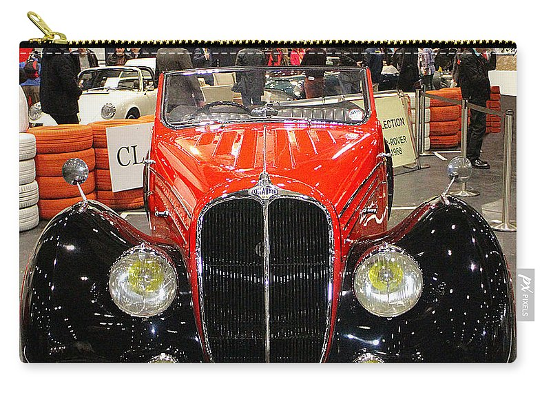 1947 Carry-all Pouch featuring the photograph 1947 Delahaye 135m Letourner Et Marchand Cabriolet by Peter Lloyd