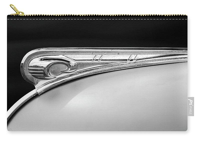1947 Dodge Gi Joe Carry-all Pouch featuring the photograph 1947 Dodge Gi Joe Hood Ornament 2 by Jill Reger