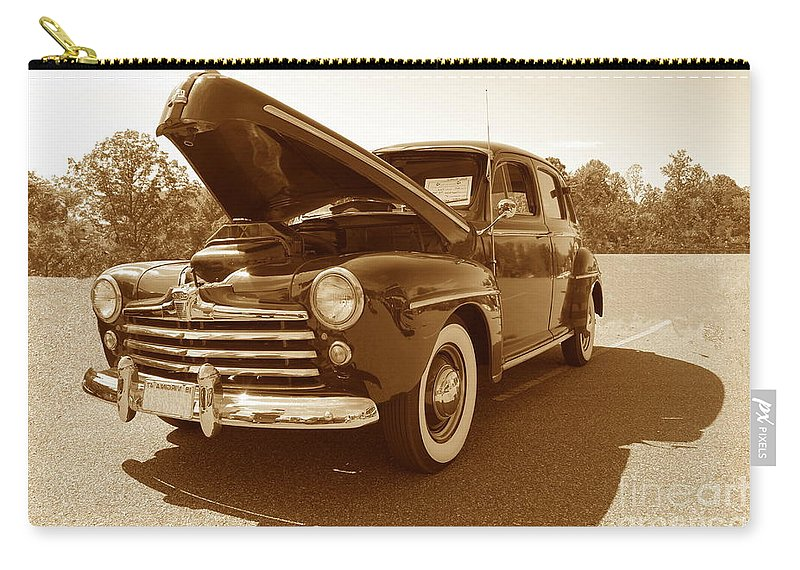 Ford Carry-all Pouch featuring the photograph 1947 Ford by Eric Liller