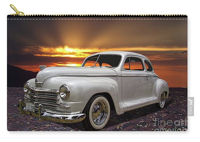 1948 Carry-all Pouch featuring the photograph 1948 Plymouth Two Door Coupe by Nick Gray