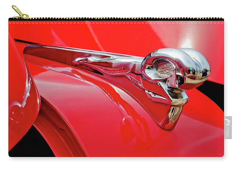 1949 Dodge Truck Carry-all Pouch featuring the photograph 1949 Dodge Truck Hood Ornament by Jill Reger