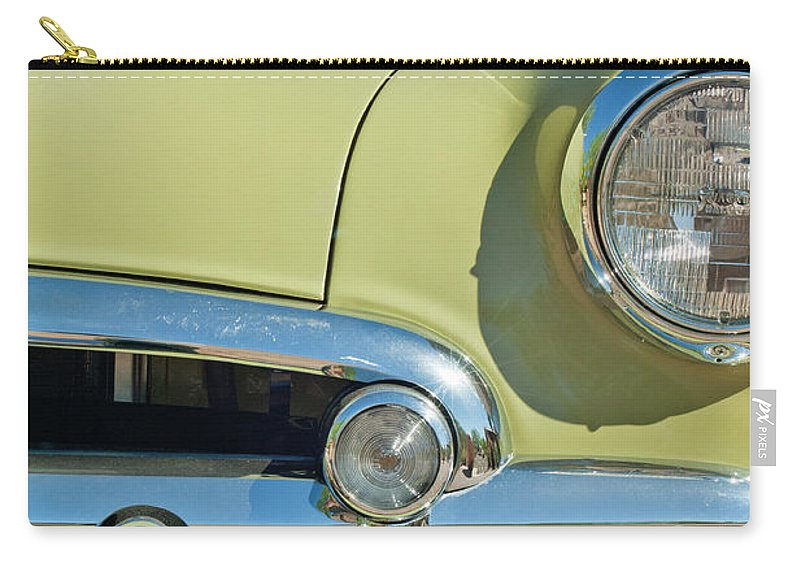 1950 Chevrolet Carry-all Pouch featuring the photograph 1950 Chevrolet Fleetline Grille by Jill Reger
