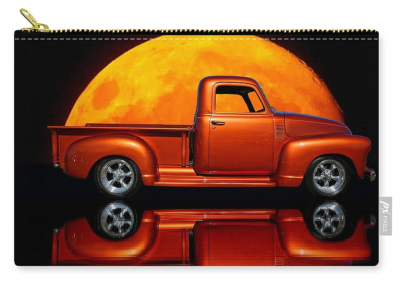 Reflection Carry-all Pouch featuring the photograph 1950 Chevy Pickup Poster by Alan Hutchins