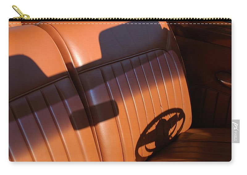 Car Carry-all Pouch featuring the photograph 1950 Oldsmobile Rocket 88 Convertible Interior by Jill Reger