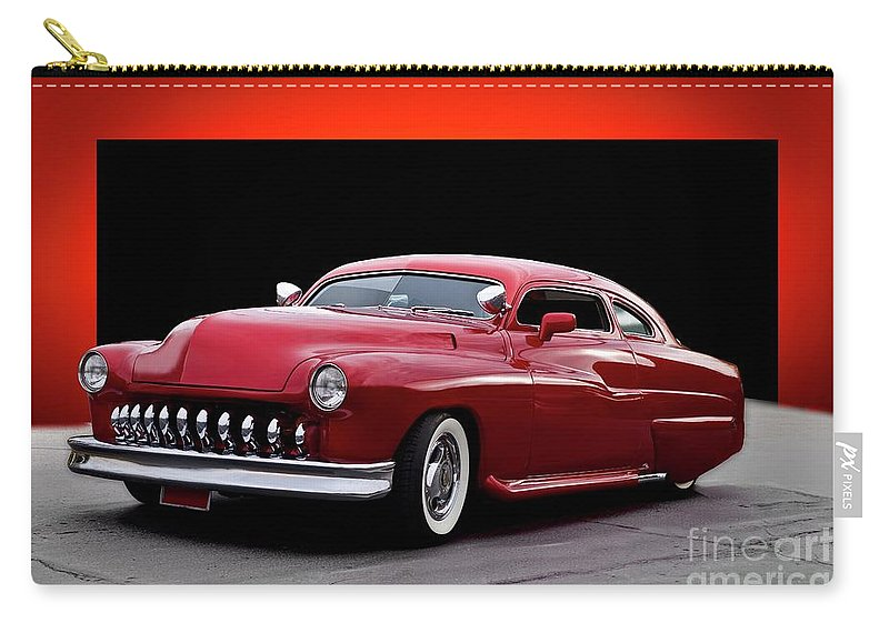 Auto Carry-all Pouch featuring the photograph 1951 Mercury 'candy Custom' Sled by Dave Koontz