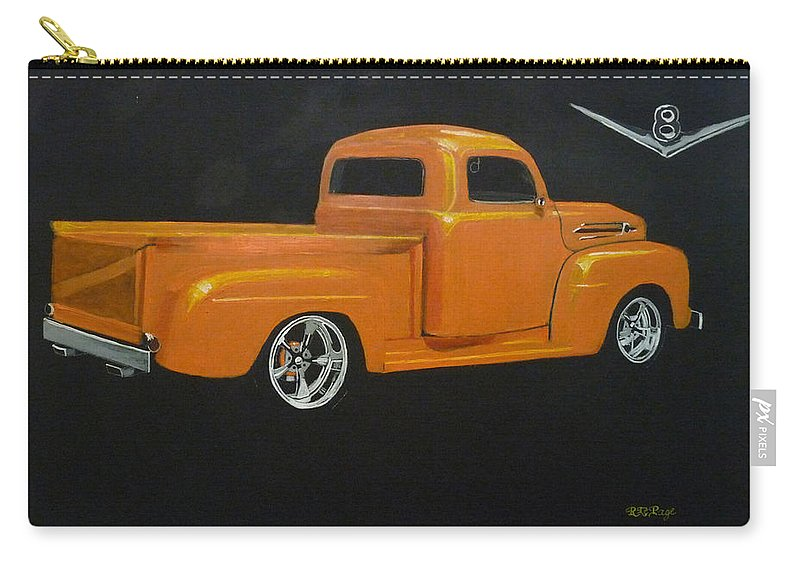 Truck Carry-all Pouch featuring the painting 1952 Ford Pickup Custom by Richard Le Page