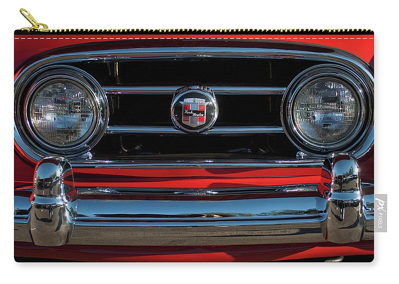 1953 Nash Healey Roadster Carry-all Pouch featuring the photograph 1953 Nash Healey Roadster Grille by Jill Reger