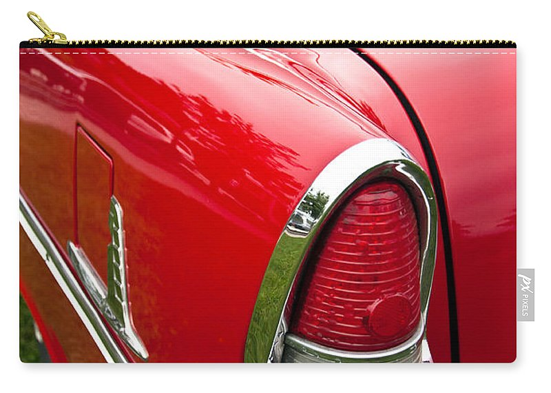 1955 Chevrolet Bel Air Tail Light Carry-all Pouch featuring the photograph 1955 Chevrolet Bel Air Tail Light by Glenn Gordon