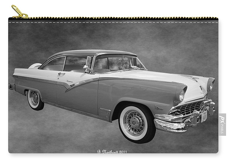 1956 Carry-all Pouch featuring the photograph 1956 Ford Fairlane Victoria by Betty Northcutt