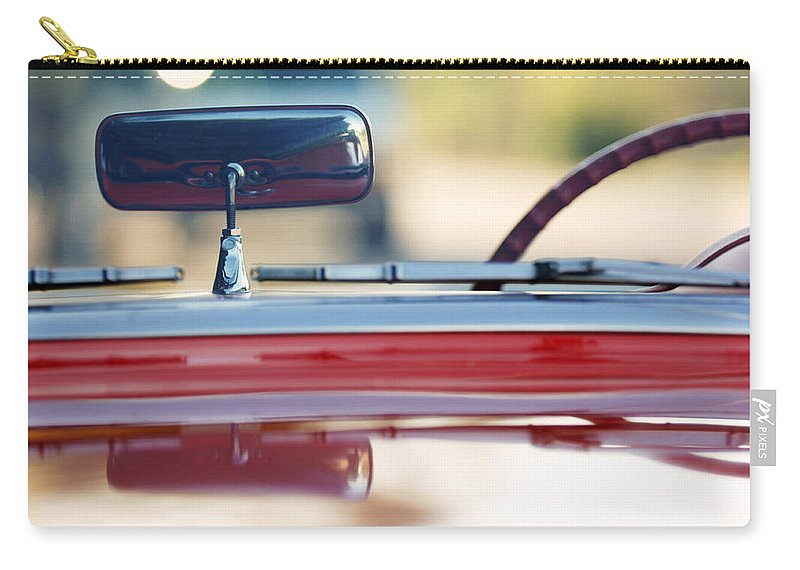 Classic Car Carry-all Pouch featuring the photograph 1957 Chevrolet Corvette Convertible by Jill Reger