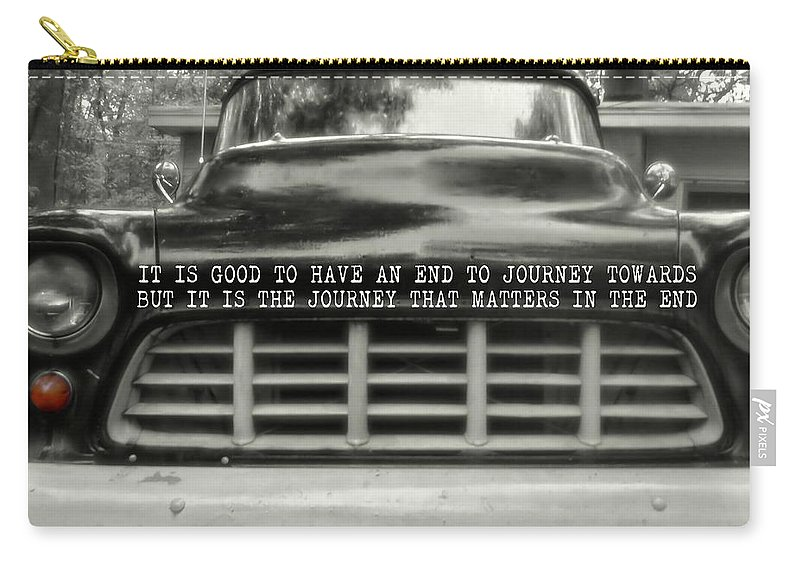 Chevy Carry-all Pouch featuring the photograph 1957 Chevy Quote by JAMART Photography