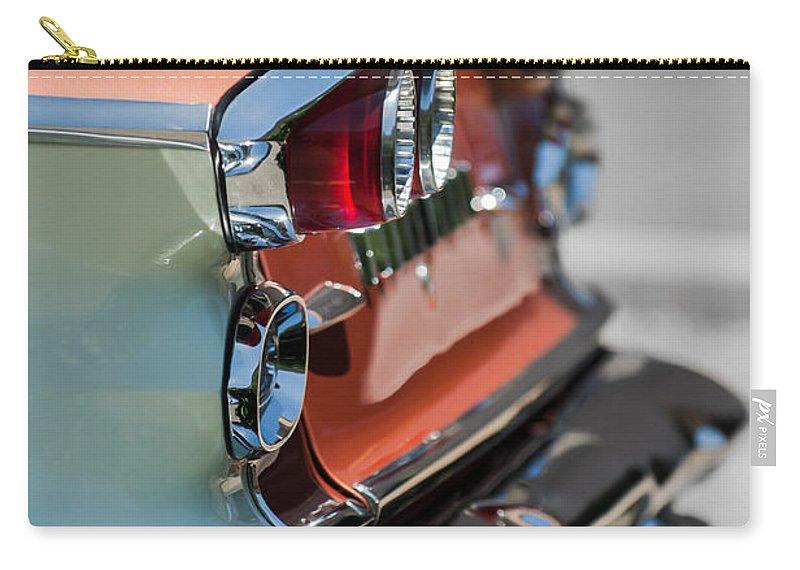 1958 Pontiac Bonneville Carry-all Pouch featuring the photograph 1958 Pontiac Bonneville Taillights by Jill Reger